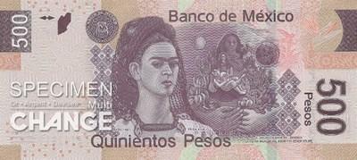 Frida Kalho sur un billet mexicain